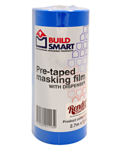 Buildsmart Pre-Taped Cloth Window Masking Film with Dispenser 2700mm x 15m