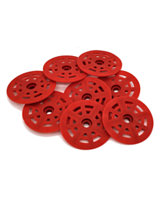 BS Red Nylon Washers/Buttons  48 mm 500 pcs