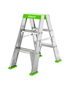 iQuip Double Sided Ladder 170KG Rated 4 Step 1200mm