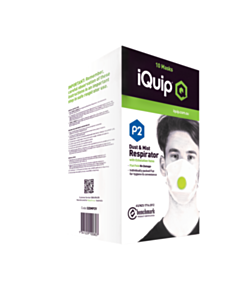 iQuip Dust + Mist Mask with Valve P2 10pk