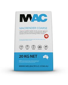 MAC Coarse FR Sand Render Base Coat 20Kg